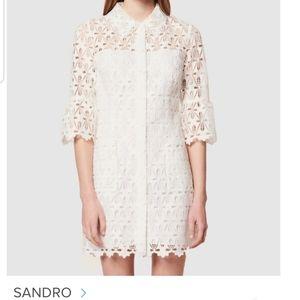 SANDRO Lauretta Guipure Lace Dress Sz34